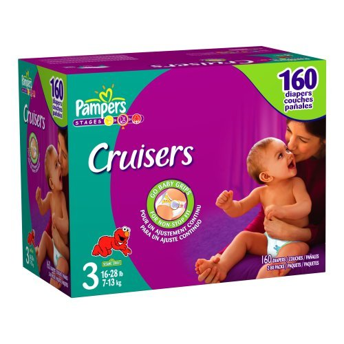 Pampers Cruisers Size 3 JUMBO