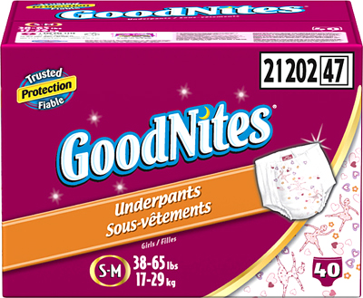 Huggies GoodNites S-M for Girls 56 ct